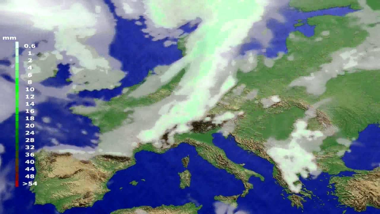 Precipitation forecast Europe 2016-06-28