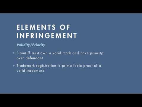 Intellectual Property tutorial: Trademark Infringement I | quimbee.com
