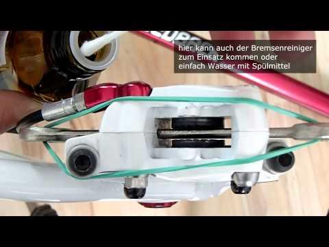 Bremskolben reinigen, schmieren, mobilisieren an einer Scheibenbremse - MTB - (ausführlich)