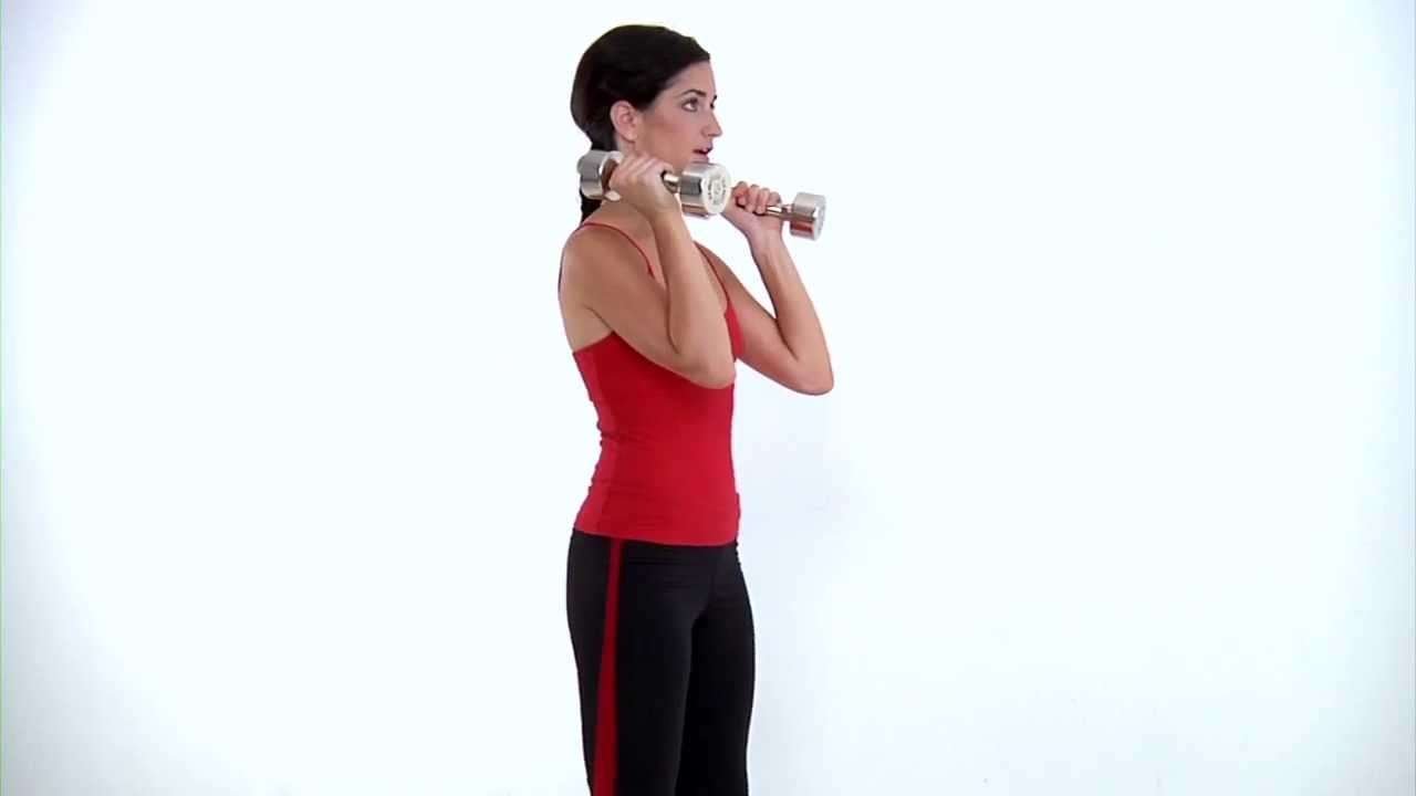Dumbbell Squat and Overhead Press – Bikini Body Now Workout