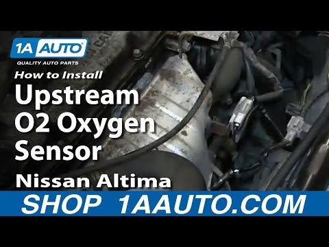 How To Install Replace Upstream O2 Oxygen Sensor 1996-99 Nissan ALtima 2.4L