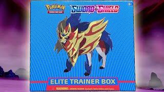 Pokemon Sword and Shield Zamazenta Elite Trainer Box Opening! by The Pokémon Evolutionaries