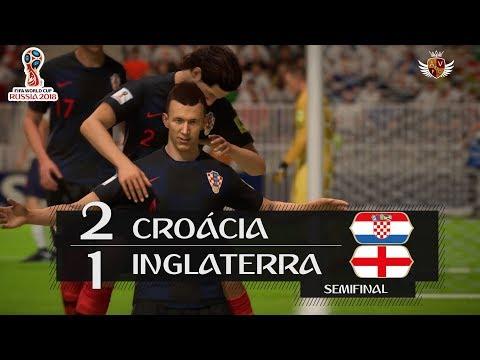 CROÁCIA 2 x 1 INGLATERRA NO FIFA 18 - SEMIFINAL   NARRAÇÃO DO LUIS ROBERTO NO FIFA 18 WORLD CUP