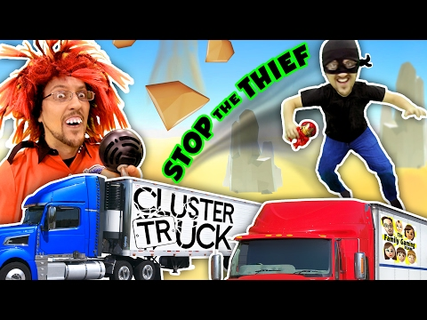 TRY 2 STOP ME! HIGH SPEED TRUCK JUMPING PARKOUR CHASE (FGTEEV CLUSTER TRUCK Funny Gameplay Skit) (видео)