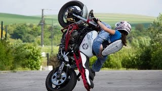 5. Kawasaki 636 ZXR Street Bike = Stunt Riding Motorcycle@
