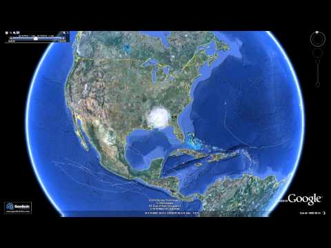 Ver la temporada de huracanes de 2010 en google earth
