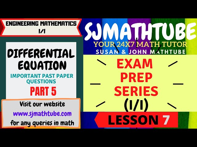 7 - Past Paper Questions - Differential Equations(5)