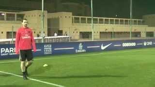 Premier entraînement en terres marocaines pour les joueurs du PSG