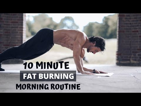 10 MINUTE FAT BURNING MORNING ROUTINE | Do this every day | Rowan Row