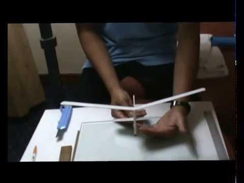 การสร้างเครื่องร่อนแบบปล่อยด้วยมือ ปีกตรง