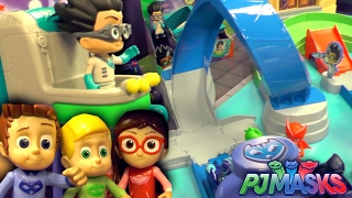 """In this PJ Masks Episode we have an exclusive look at the new PJ Masks Toys at New York Toy Fair 2017.Rival Racers Track Playset is the biggest of the new toys with ramps and jumps and loop the loops for Cat Boy and Night Ninja. Favorite nighttime heroes Catboy, Owlette and Gekko kick the action into high gear with the new PJ Masks Rival Racers Track Playset, based on Entertainment One's hit TV series """"PJ Masks."""" Kids can play out the adventures seen in the show as they zoom through the raceway to save the Museum from Night Ninja! Launch the vehicles into action using one of two built in mega launchers, then zoom through the loop and around the curves. Watch out for Luna Girl when she pops-up on the track, then cross under the city bridge and race past Romeo to the finish line! The racing action is super-fast when PJ Masks are saving the day! Playset includes Catboy figure, Cat-Car vehicle and Night Ninja Bus. Ages 3+, SRP $39.99, Available Fall 2017PJ Masks Mini Vehicle Night Ninja and PJ Masks Mini Vehicle Romeo were really nice to see. The PJ Masks Rev and Go vehicles also look good but were only at an early stage. PJ Masks Big Vehicles for Romeo's Lab and Night Ninja's Truck.PJ Masks Transforming Playset not only switches each of the PJ Masks heroes between their normal and super hero identity but is the first time we have posable toy figures for Connor, Amaya and Greg.PJ Masks Deluxe Figure Set adds Ninjalinos as well as pet animal characters for each of the heroes and new weapons.PJ Masks Talking Romeo, Talking Luna Girl and Talking Night Ninja toys also bring the villains to this larger size of action figure."""