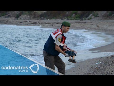 Las impactantes imágenes de niño ahogado en las costas de Turquía crean conmoción mundial