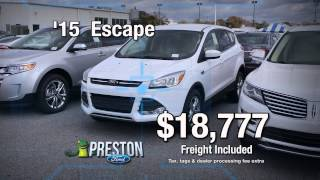 Preston Ford Dealer of Maryland with Lowest Ford Prices for Final Week