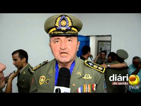 Posse do Coronel Cunha no 6º Batalhão em Cajazeiras