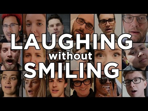 47 YouTubers Laugh Without Smiling