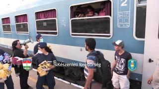 O ch*j w ogóle im chodzi?! Uchodźcy wyrzucają z pociągu jedzenie i wodę którą dostali.