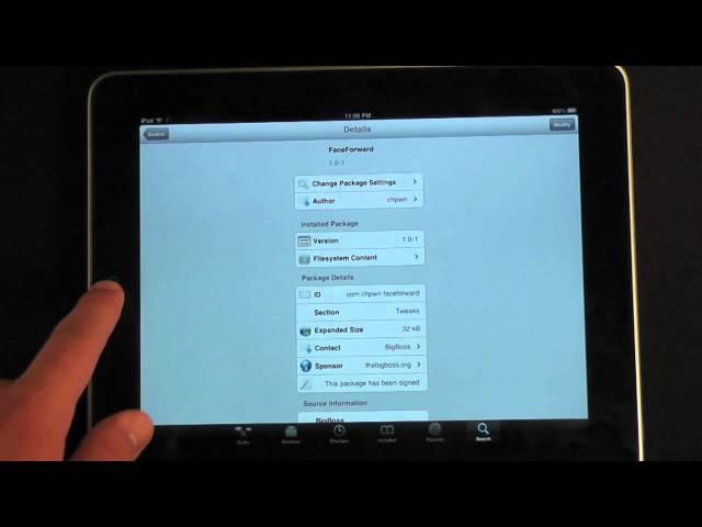 FaceForward - Re-access the Hidden Facebook iPad App