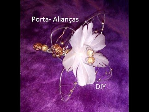 Porta- Alianças /Flor em arame DIY
