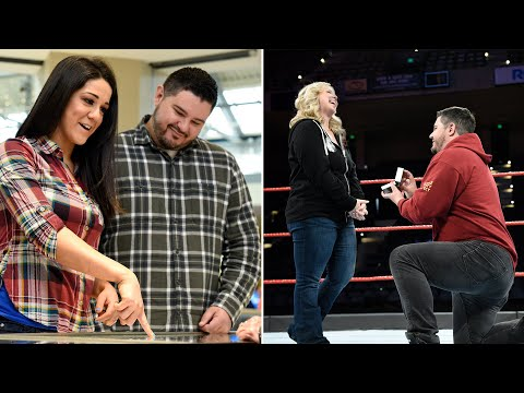 Bayley helps WWE fan with in-ring wedding proposal