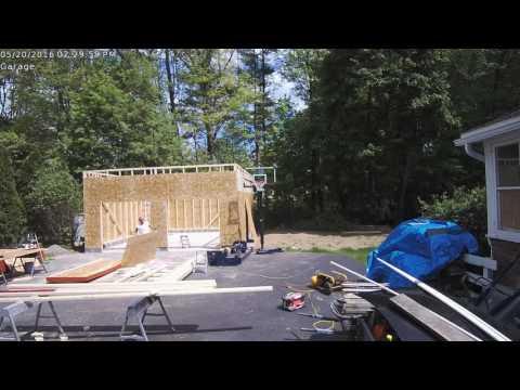 24x24x12 Garage Framing Time Lapse