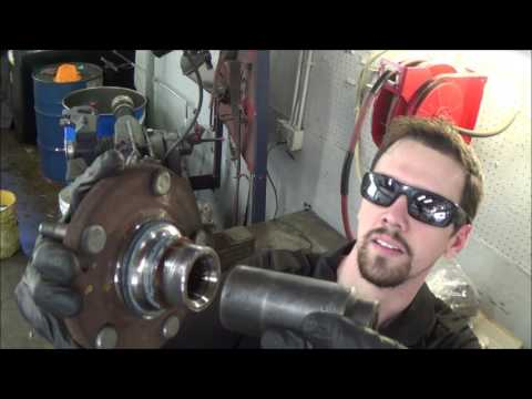 How to replace a front wheel bearing - press in (Hyundai Elantra)