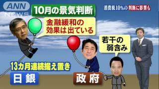 日銀「穏やかな回復」と政府「若干弱含み」どっち?