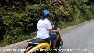 Thailand Koh Samui Travelreport With Sleeper Train And Scooters To Tourist Attractions Moto Honda