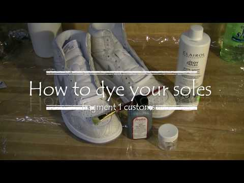 How to dye your soles!