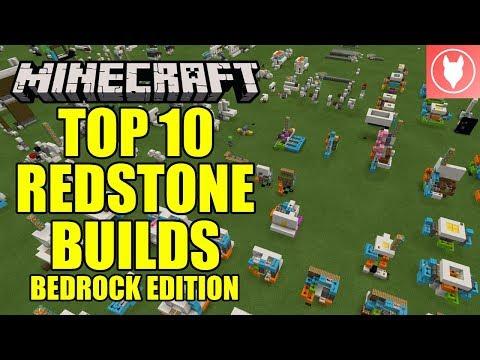 Minecraft Bedrock - Top 10 Redstone Builds of 2018!