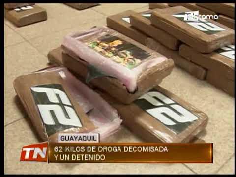 62 kilos de droga decomisada y un detenido
