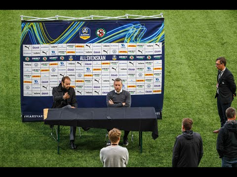 Presskonferens efter ÖSK – BK Häcken