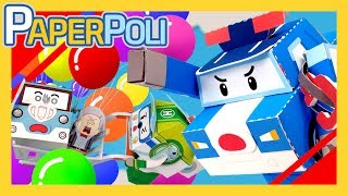 """""""wha..?! the cart is flying in the air!"""" Spooky makes a trouble again, by making too much of balloons.The cart goes up in the air, and the situation gets worse and worse.[PAPER POLI] AUTO PLAY (English): http://goo.gl/Z36ZSU[종이종이 폴리] 연속보기 (한국어): http://goo.gl/s0GQkc ▼▼▼▼▼▼ Please click on the READ MORE ▼▼▼▼▼▼Super transforming Robocar rescue team is here to save our neighbors and friends from dangers.There are always accidents and troubles in Broom's town. But, in the every moment of crisis, there is our super Robocar rescue team to save the cars and people from the dangerous situation.They are Super police car POLI and his team-mate, fire-truck ROY, ambulance AMBER, Helicopter HELLY and operator girl JIN.Through the rescue process of each episode, children get to know the daily safe tips, and the happiness and preciousness when they help others by POLI and his friends of Broom's town.Connect with Robocar POLI:Visit the Robocar POLI WEBSITE:http://www.robocarpoli.com/Like Robocar POLI on FACEBOOK:https://www.facebook.com/robocarpoli.korFollow Robocar POLI on INSTAGRAM:http://instagram.com/robocarpoli.offi...Here we go rescue of you!https://www.youtube.com/robocarpoliCOPYRIGHT ⓒ ROI VISUAL / EBS"""