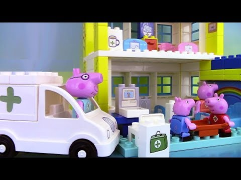 Peppa Pig Blocks Hospital Building Set ♥ Jeu de construction de l'hôpital