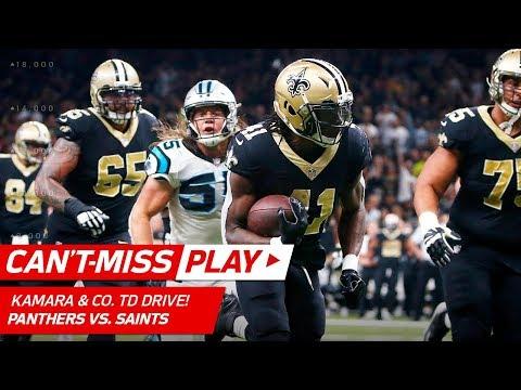 Video: Kamara & Co. Extend Lead w/ Huge TD Drive vs. Carolina! | Can't-Miss Play | NFL Wk 13 Highlights