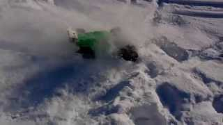RC Truggy Snow Bash In Slow-Motion