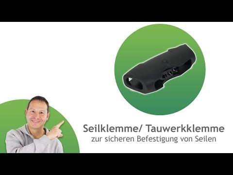 Seilklemme/ Tauwerkklemme aus Kunststoff - für ø6mm Seile