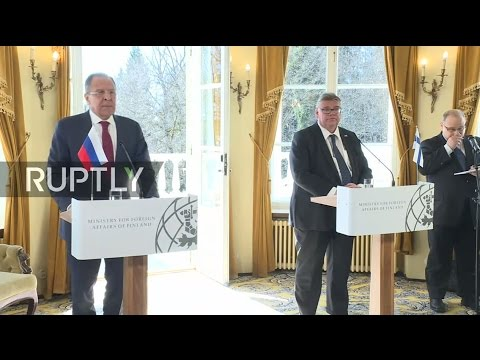 LIVE: Lavrov and Finnish FM Soini hold joint press conference in Porvoo tekijä: Ruptly TV