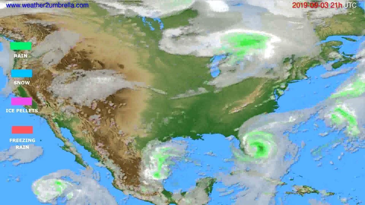 Precipitation forecast USA & Canada // modelrun: 00h UTC 2019-09-02