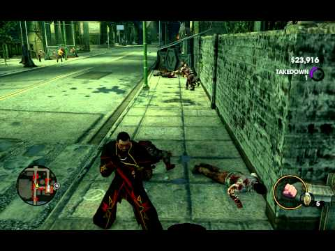 Saints Row 3 Beating Up Zombies