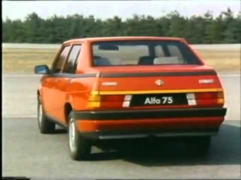 riccardo patrese & eddie cheever: test drive sull' alfa 75