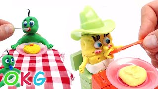 Video Baby SpongeBob Feeding Days Superheroes in Real Baby Life Play Doh Stop Motion Videos MP3, 3GP, MP4, WEBM, AVI, FLV Desember 2017