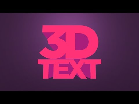 Create A 3D Text Effect Illustrator Tutorial