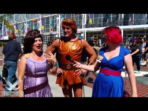 HERCULES and MEGARA! Disney Cosplay at Long Beach Comic Con