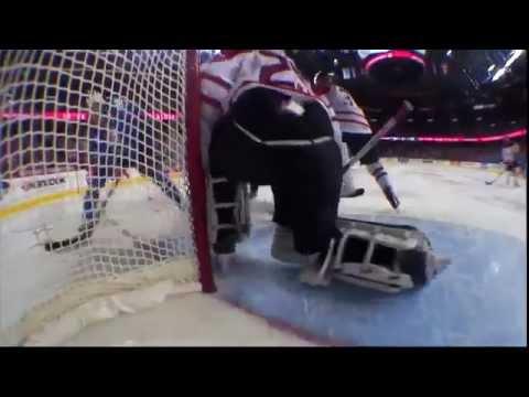 Team Canada's Goalie Makes Insane Save VS. Team Finland