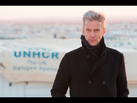Peter Capaldi Visits Refugee Camps in Jordan
