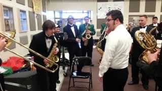 Awesome Improv Jazz Jam Session Behind Stage