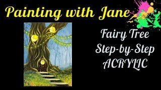 "Let's paint a fairy forest with a warm, inviting home in an old oak tree. Stairs, grasses, fireflies, and string lights add to the magical mood in this painting!I'm painting on a 12x16-inch stretched canvas, but you can paint on any type and size of canvas you like.I used:• A 1-inch flat brush• #12 cloud brush• #4 cloud brush• 5/8-inch angle• 1/2-inch angle• #6 bright• #6 round• Flat, stiff, natural bristle brush or fan brushI'm using Liquitex Basics acrylic paint in the following colors:• Titanium White• Phthalocyanine Blue• Burnt Umber• Primary Yellow• Quinacridone MagentaBut you can use any colors you like.Check out my Patreon page! Become a patron and get some awesome rewards. http://bit.ly/29OV2VIGrab a set of my paint brushes, Art Monster swag, my original paintings, and sign up for my mailing list on my website at www.paintingwithjane.com or http://bit.ly/2esWni7Find me on Facebook here: http://bit.ly/28XweuxInstagram here: http://bit.ly/2jnykTTTwitter here: http://bit.ly/2icHNj7Notice: No part of this video may be reproduced or distributed without written permission from me. The painting demonstrated is owned by the artist and Pandemonium Art Gallery, and may not be reproduced except by individuals for the purpose of learning these techniques. This tutorial and painting presented are not available for commercial purposes and may not be duplicated to be used for classes or commercial sale without written permission from me. The artwork contained in this video © 2017 by Jane Font All Rights Reserved""Butterfly Wings,"" ""Mushroom Fairies,"" ""Fairy Ring,"" ""Secrets of the Deep,"" ""Ocean of Silence,"" and ""Underwater Cave"" by Derek and Brandon Fiechter. Check out their YouTube channel here! http://bit.ly/1N1P0aEThanks for watching!"