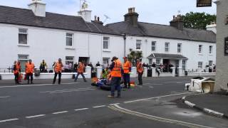 Video footage of Bob Price, 2014 Isle of Man TT, Fatal Accident at Ballaugh Bridge. RIP. Just before impact the crowd started...