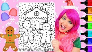 Coloring Gingerbread Girl   Boy Christmas House Coloring Page Prismacolor Markers   Kimmi The Clown