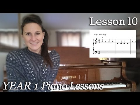 Lesson 10: Sight Reading | Free Beginner Piano Lessons - [Year 1]  Lesson 1-10